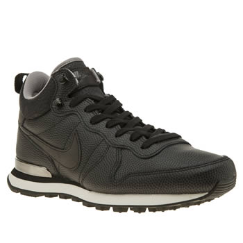 Nike Black Internationalist Mid Womens Trainers