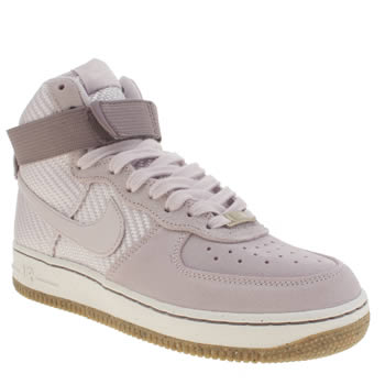 Nike Lilac Air Force 1 Hi Trainers