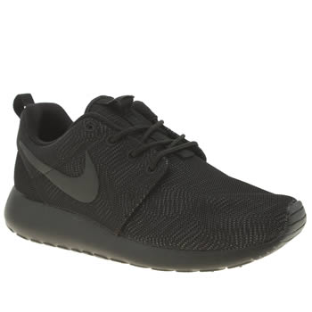 Nike Black Roshe One Moire Trainers
