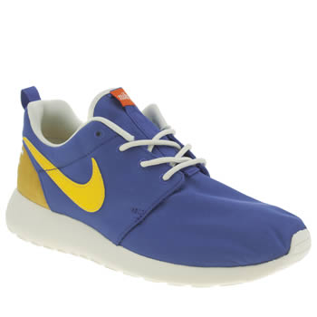 Womens Nike Blue & Yellow Roshe One Retro Trainers