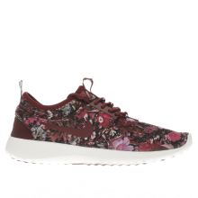 Nike Burgundy Juvenate Print Trainers