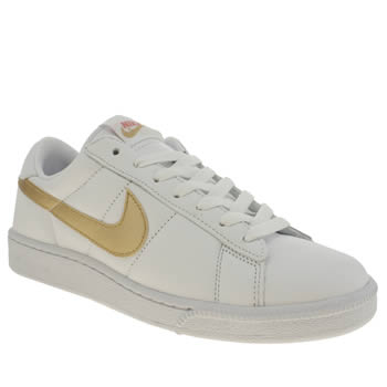 Womens Nike White & Gold Tennis Classic Trainers