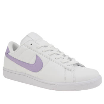 Nike White & Purple Tennis Classic Trainers