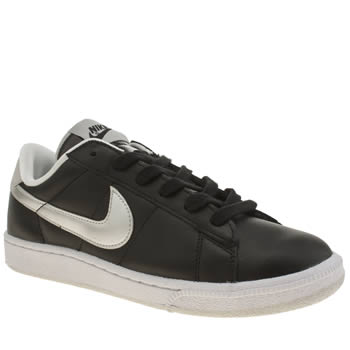 Nike Black & Silver Tennis Classic Trainers