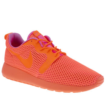 Nike Orange Roshe One Hyperfuse Br Trainers