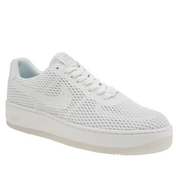 Nike White Air Force 1 Low Upstep Br Trainers