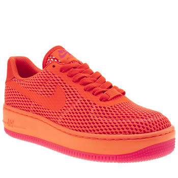 Nike Orange Air Force 1 Low Upstep Br Womens Trainers