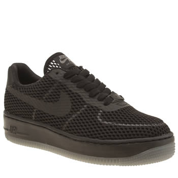 Nike Black Air Force 1 Low Upstep Br Trainers