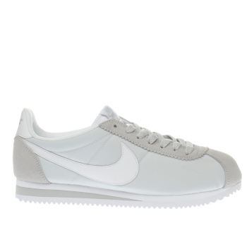 Nike White & grey Cortez Womens Trainers