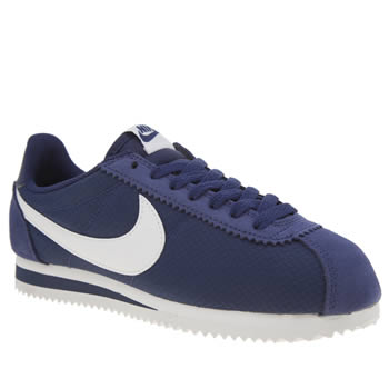 Nike Navy Cortez Nylon Womens Trainers