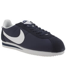 Nike Navy & White Cortez Nylon Trainers