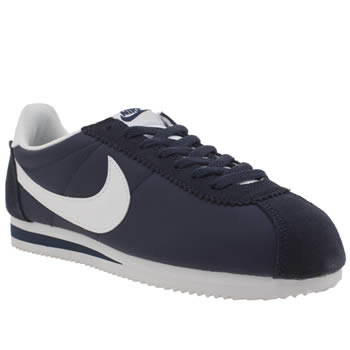 Nike Navy & White Cortez Nylon Womens Trainers