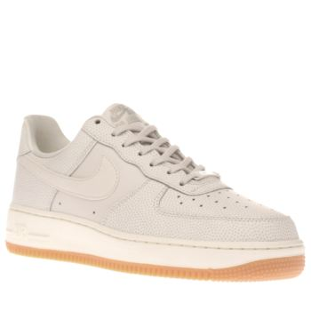 Nike Stone Air Force 1 Leather Womens Trainers