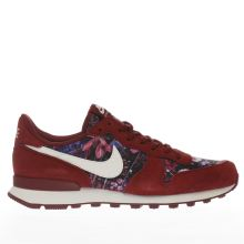Nike Burgundy Internationalist Premium Trainers