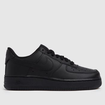 Nike Black Air Force 1 Hi Leather Trainers