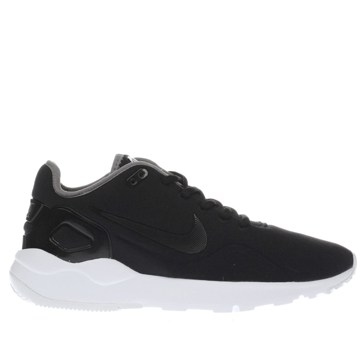 nike black & white ld runner trainers