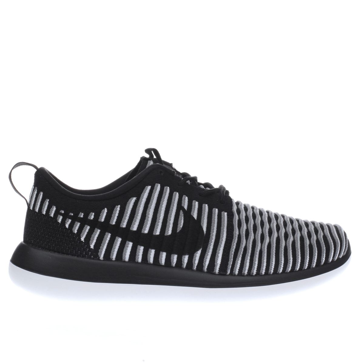 nike black & white roshe two flyknit trainers