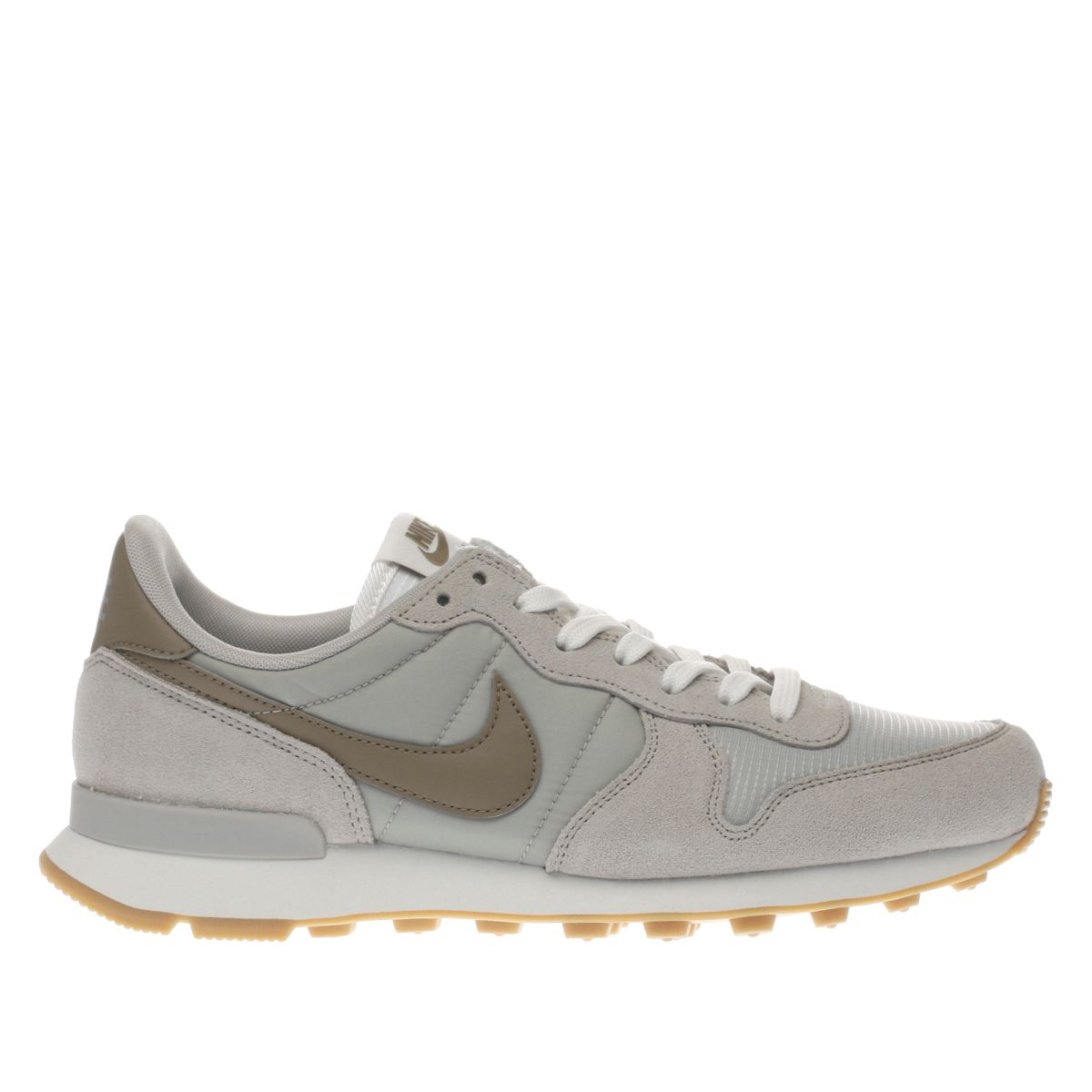 nike light grey internationalist trainers