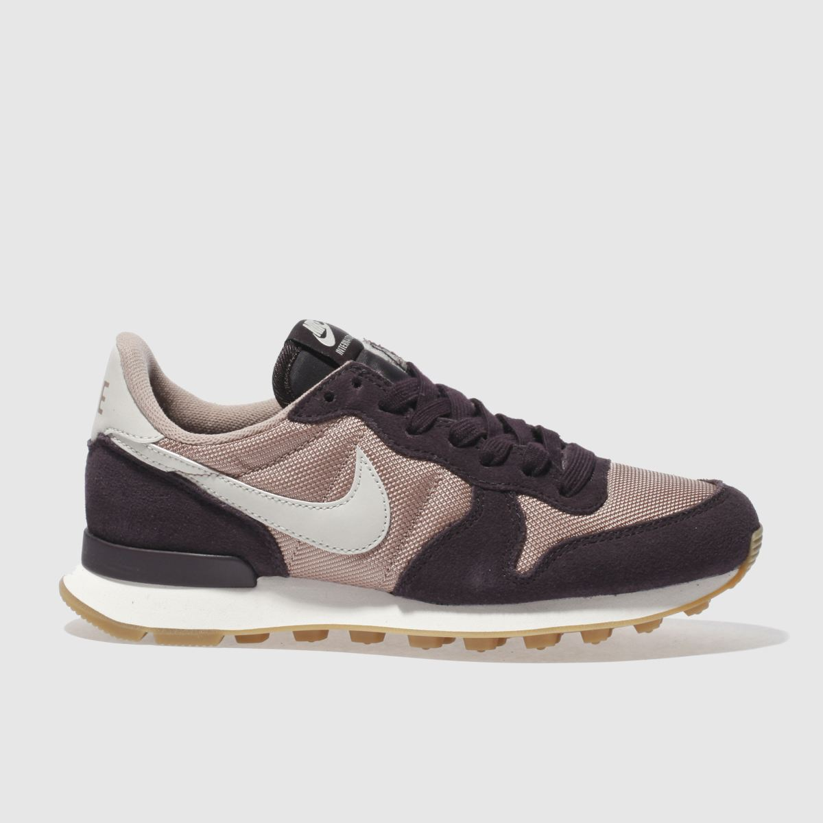 nike dark purple internationalist trainers