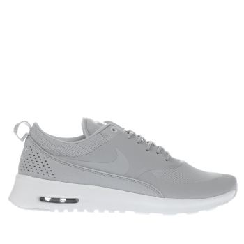 NIKE LIGHT GREY AIR MAX THEA TRAINERS