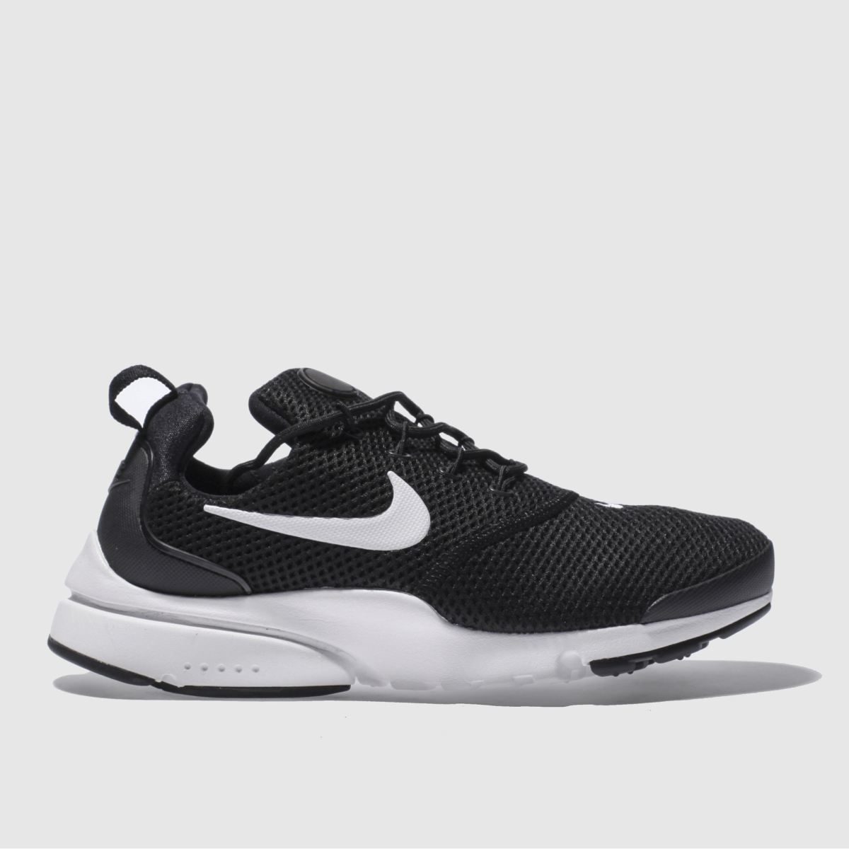 nike black & white presto fly trainers