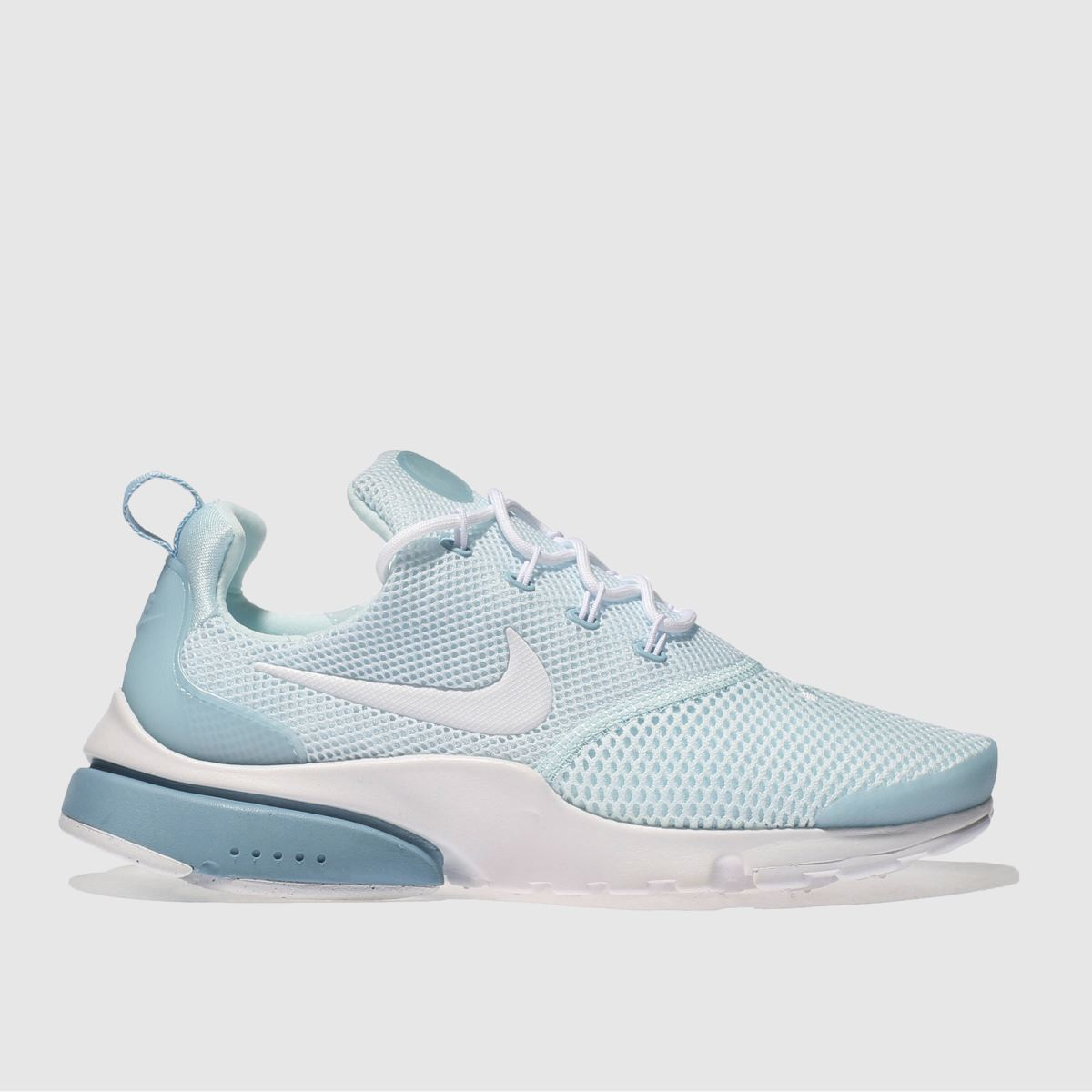 nike pale blue presto fly trainers