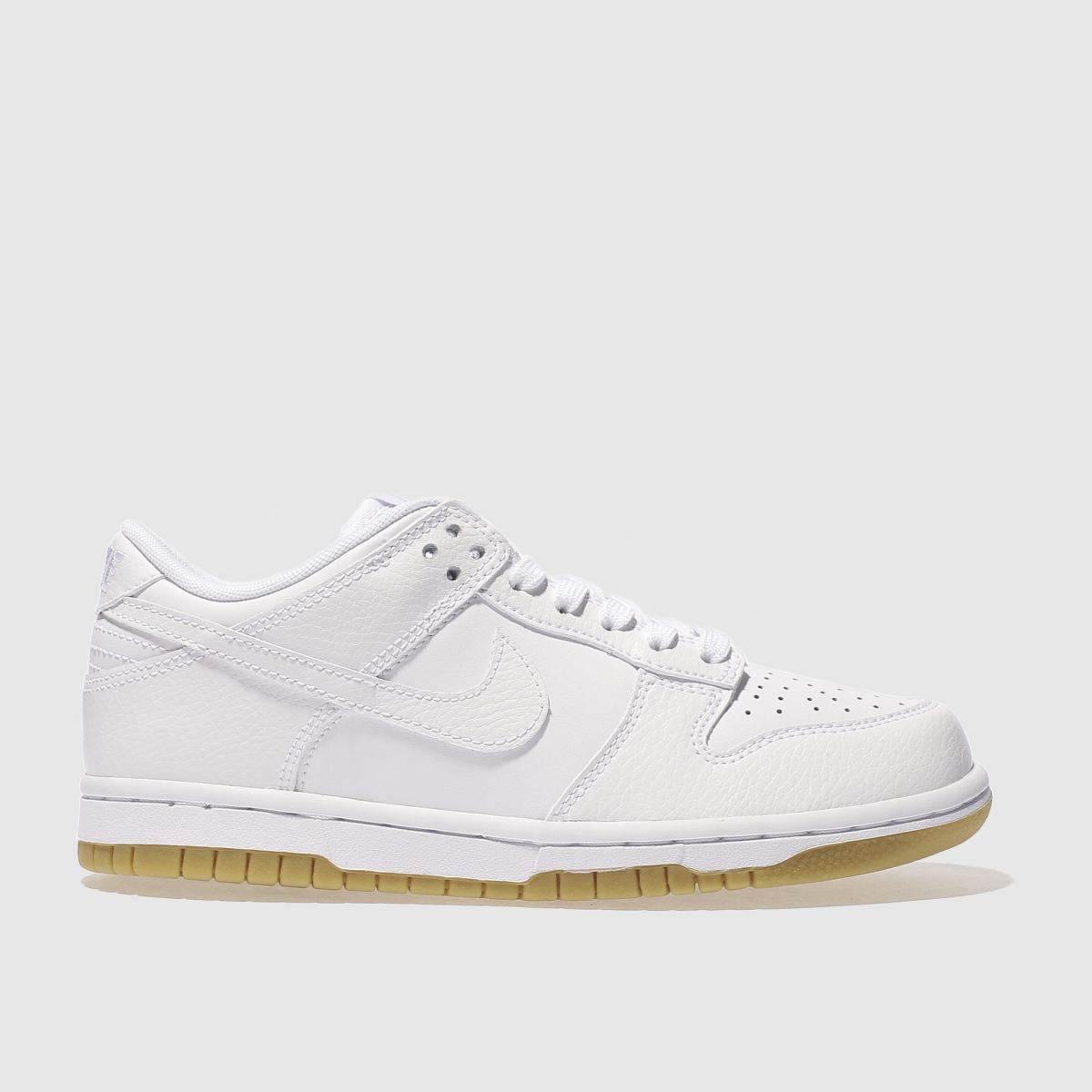 nike white dunk low trainers