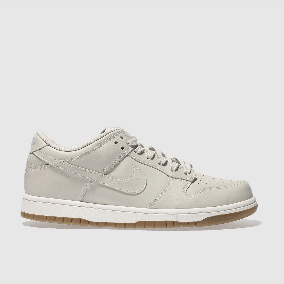 nike beige dunk low trainers