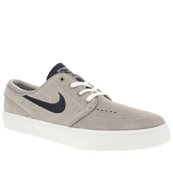 Womens Nike Skateboarding Grey & Navy Zoom Stefan Janoski Trainers