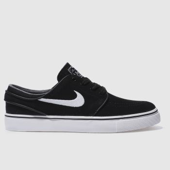 Womens Nike Skateboarding Black & White Zoom Stefan Janoski Trainers