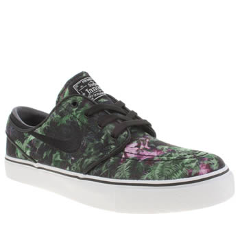 Nike Skateboarding Black & Green Zoom Stefan Janoski Trainers