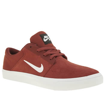 Nike Sb Red Portmore Womens Trainers