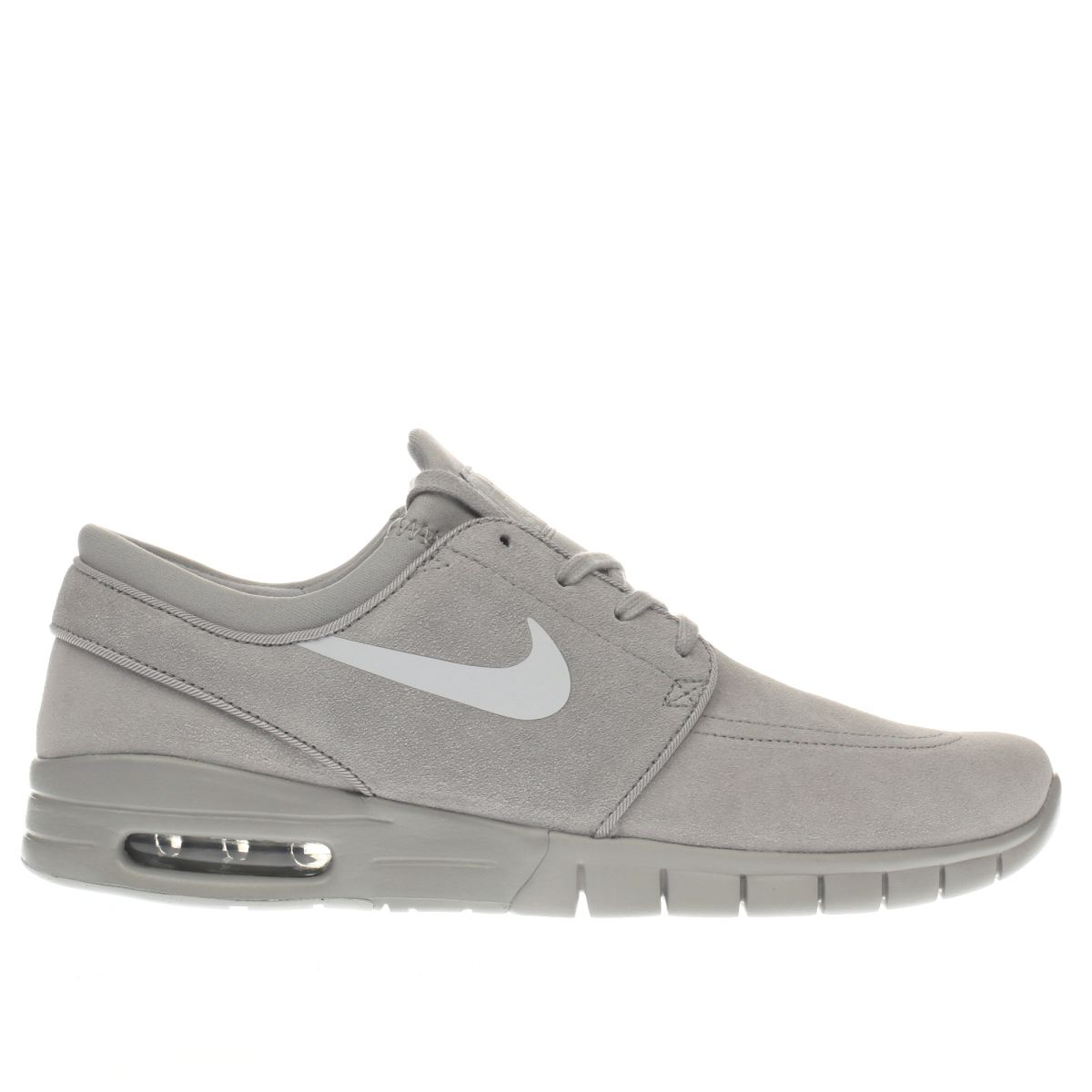 nike sb light grey stefan janoski max trainers