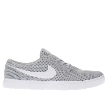 Nike Sb Light Grey Portmore Ii Ultralight Trainers
