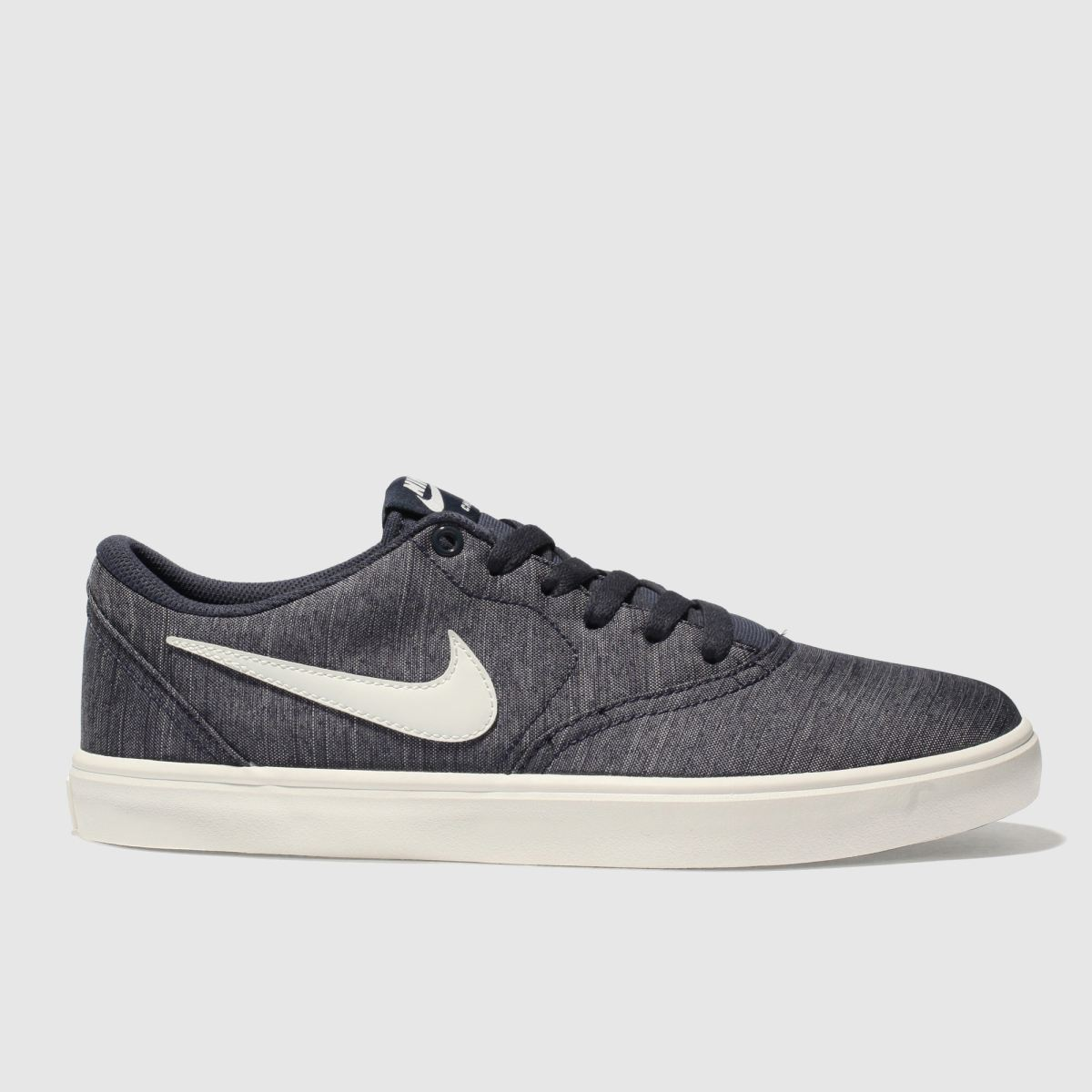 Nike Sb Navy & White Check Solarsoft Canvas Trainers