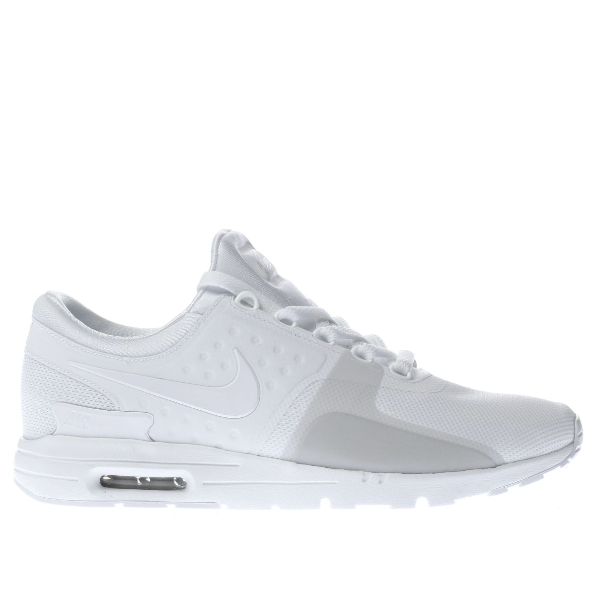 nike white & grey air max zero trainers