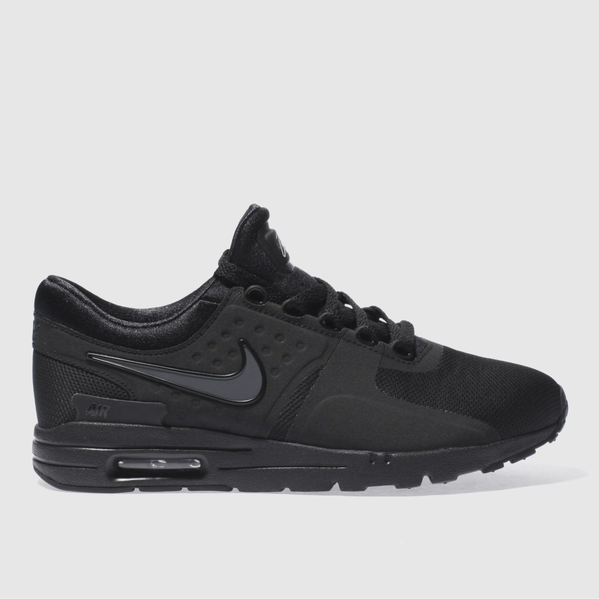 nike black air max zero trainers