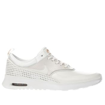 Nike White & Gold BEAUTIFUL X AIR MAX THEA Trainers