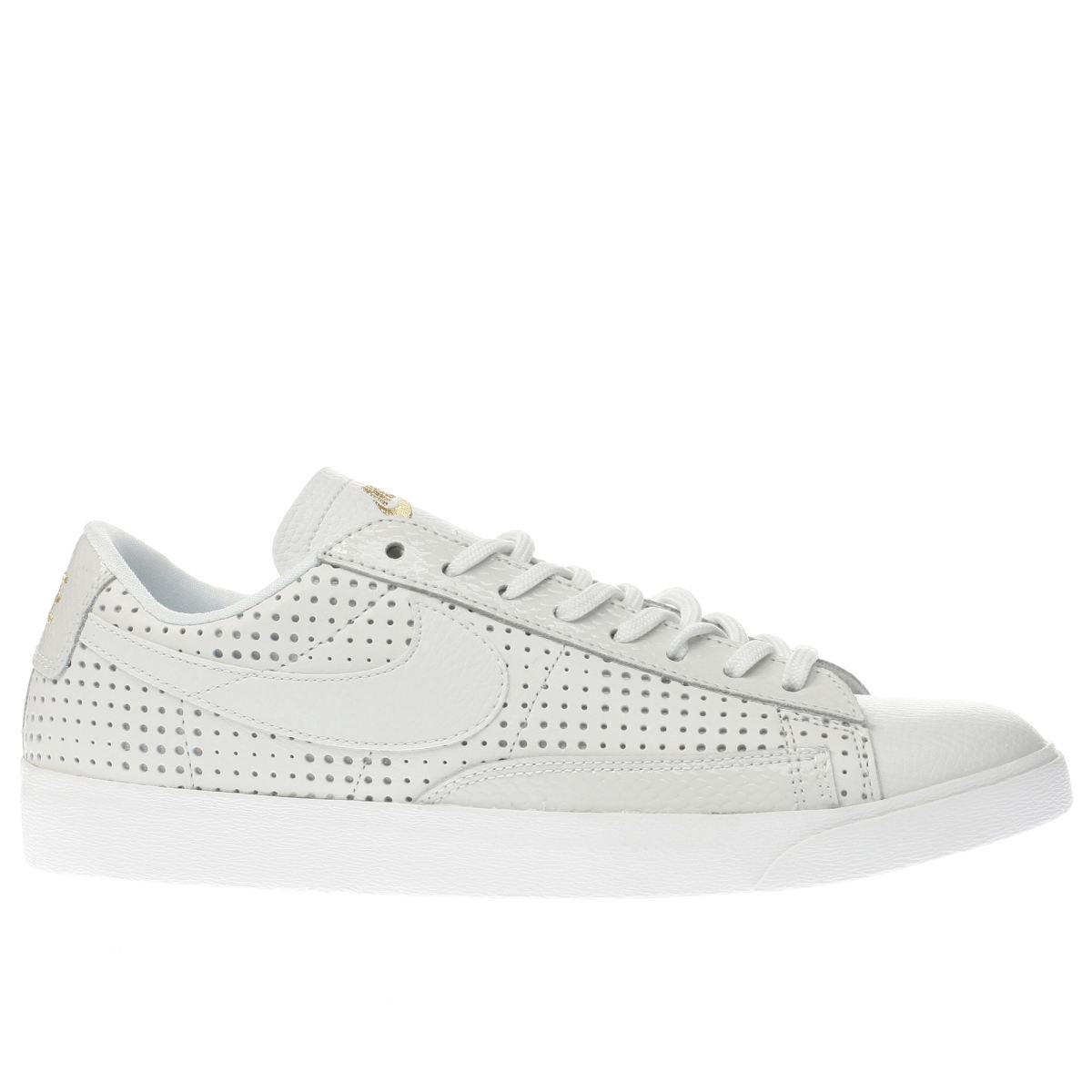 nike white & gold beautiful x blazer low trainers