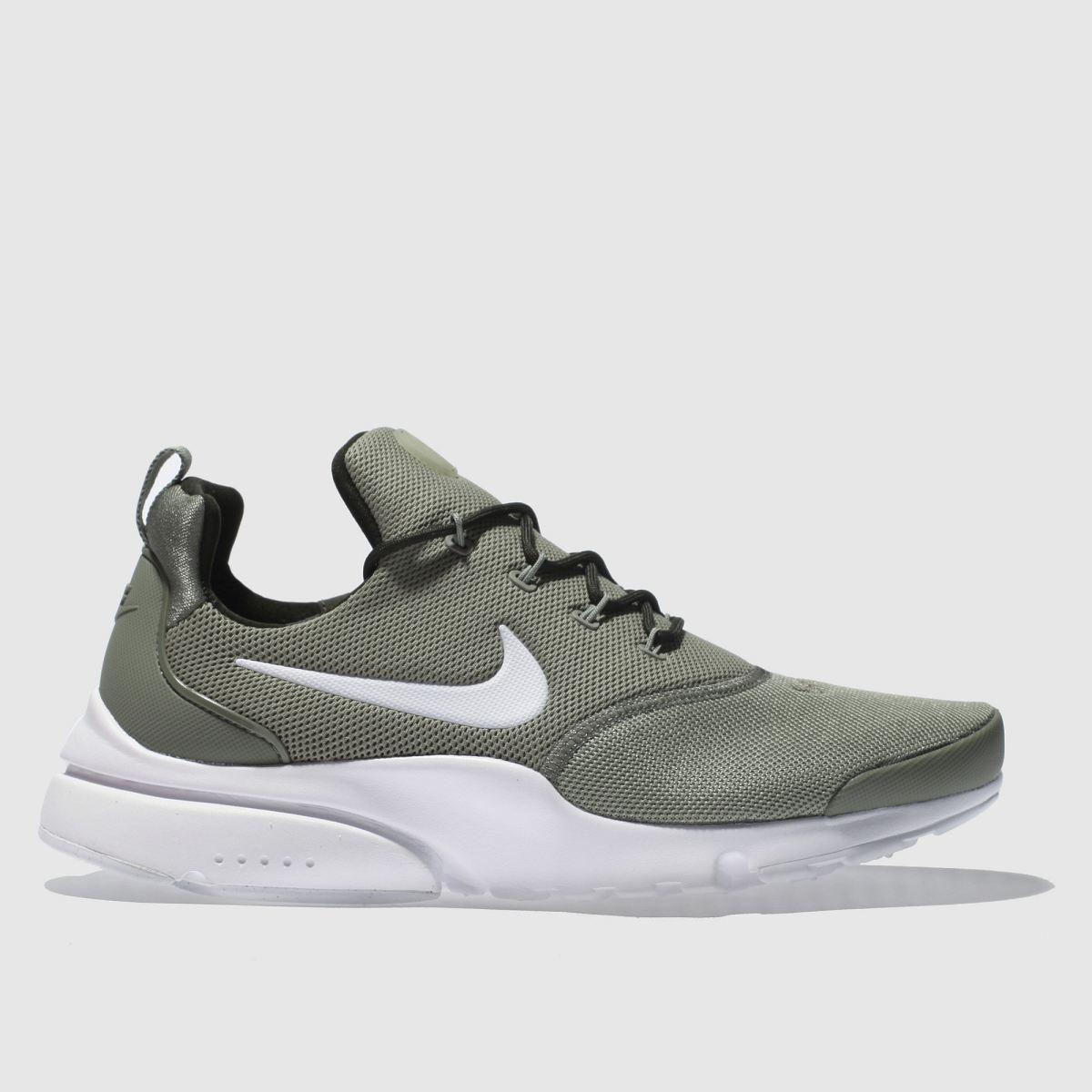 Nike Khaki Presto Fly Trainers