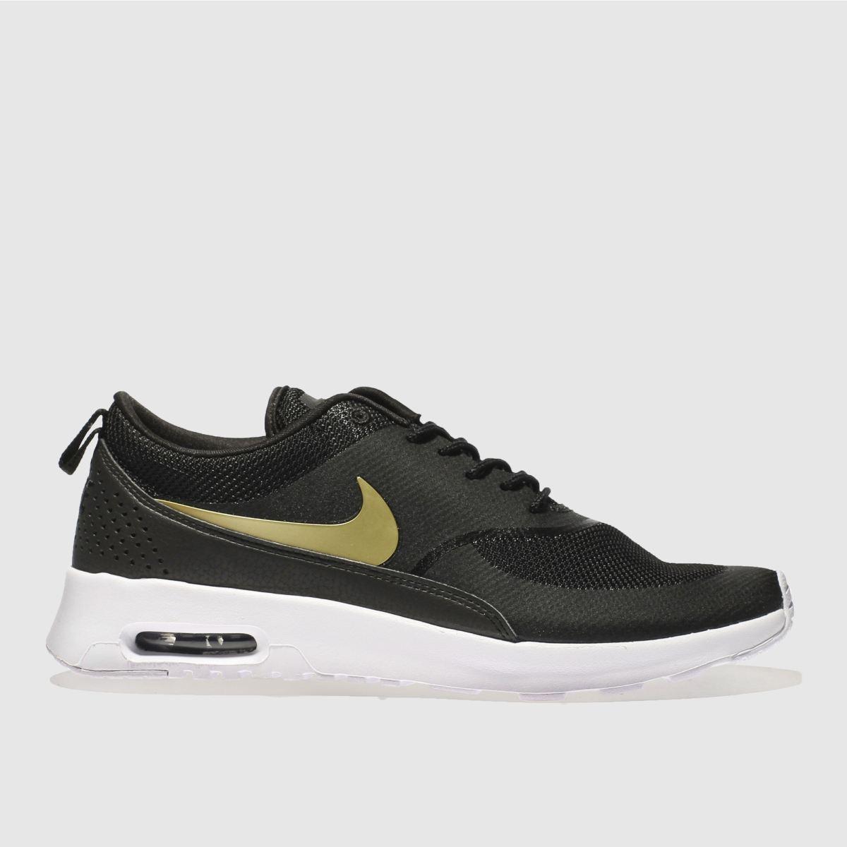Nike Black & Gold Air Max Thea Trainers