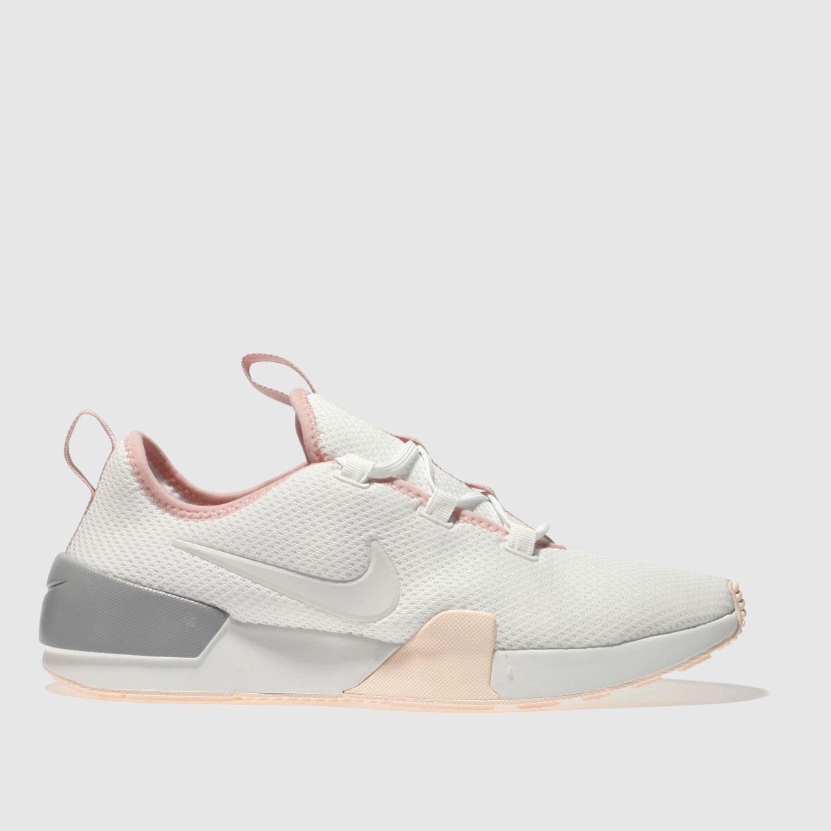 Nike White & Pink Ashin Modern Trainers