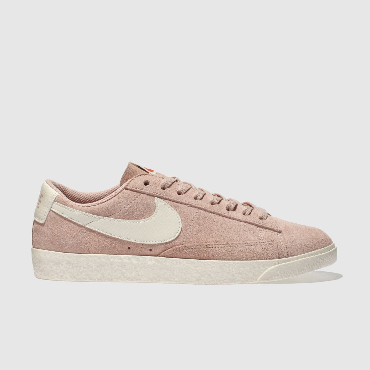 Nike Pale Pink Blazer Low Suede Trainers