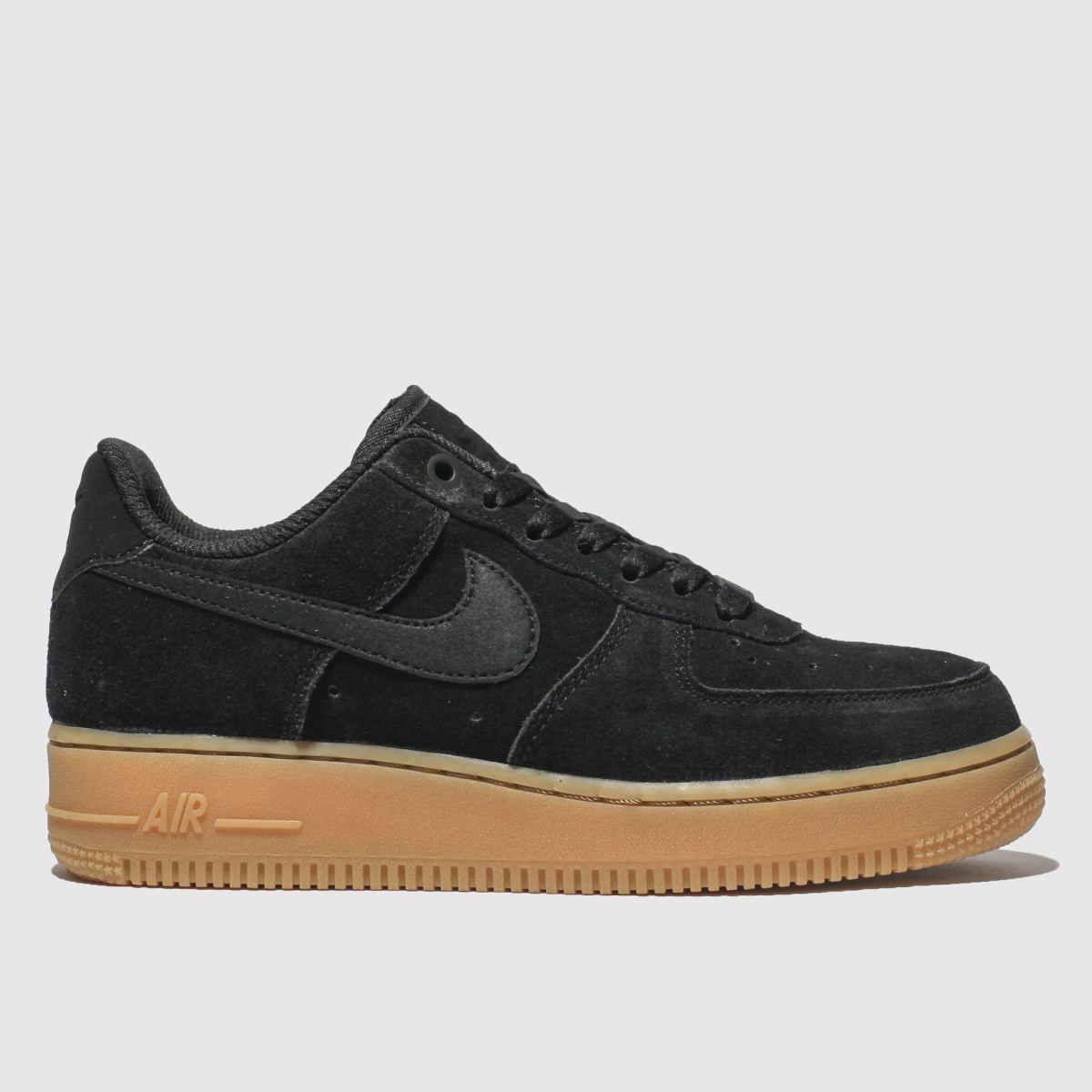Nike Black Air Force 1 07 Se Trainers