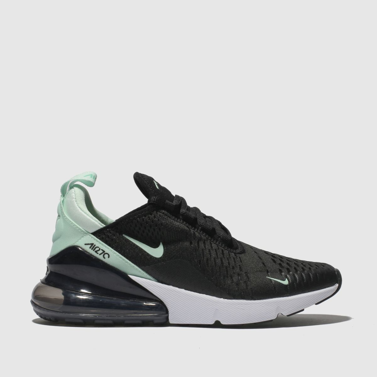 Nike Black & Green Air Max 270 Trainers