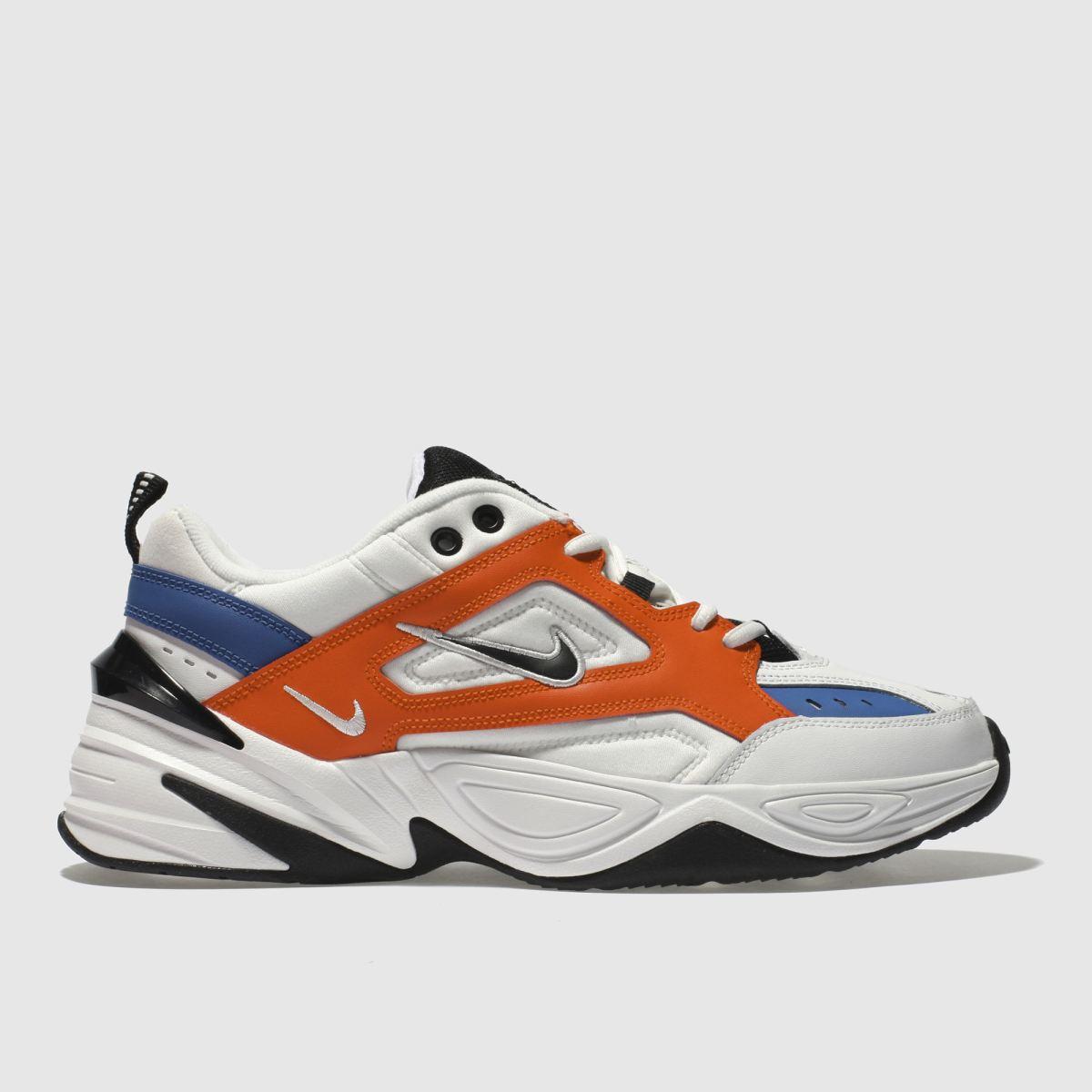 Nike White & Orange M2k Tekno Trainers