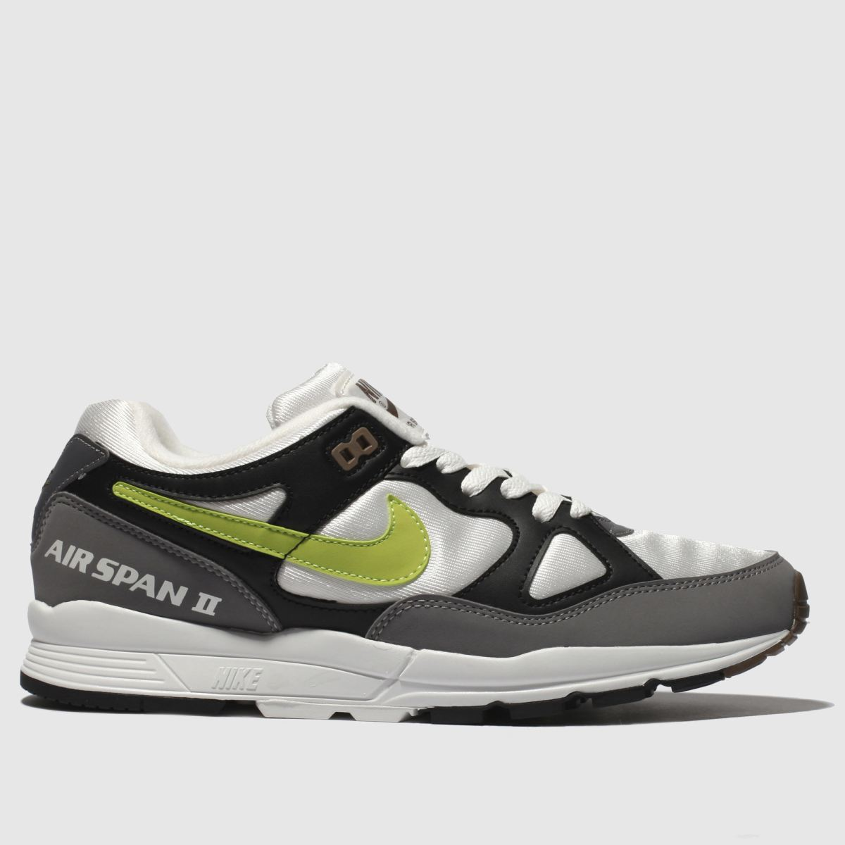 Nike White & Grey Air Span Ii Trainers