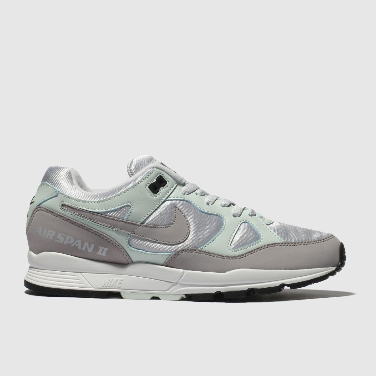 Nike Grey & Blue Air Span Ii Trainers
