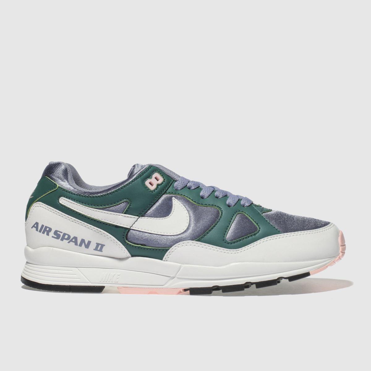 Nike White & Blue Air Span Ii Trainers