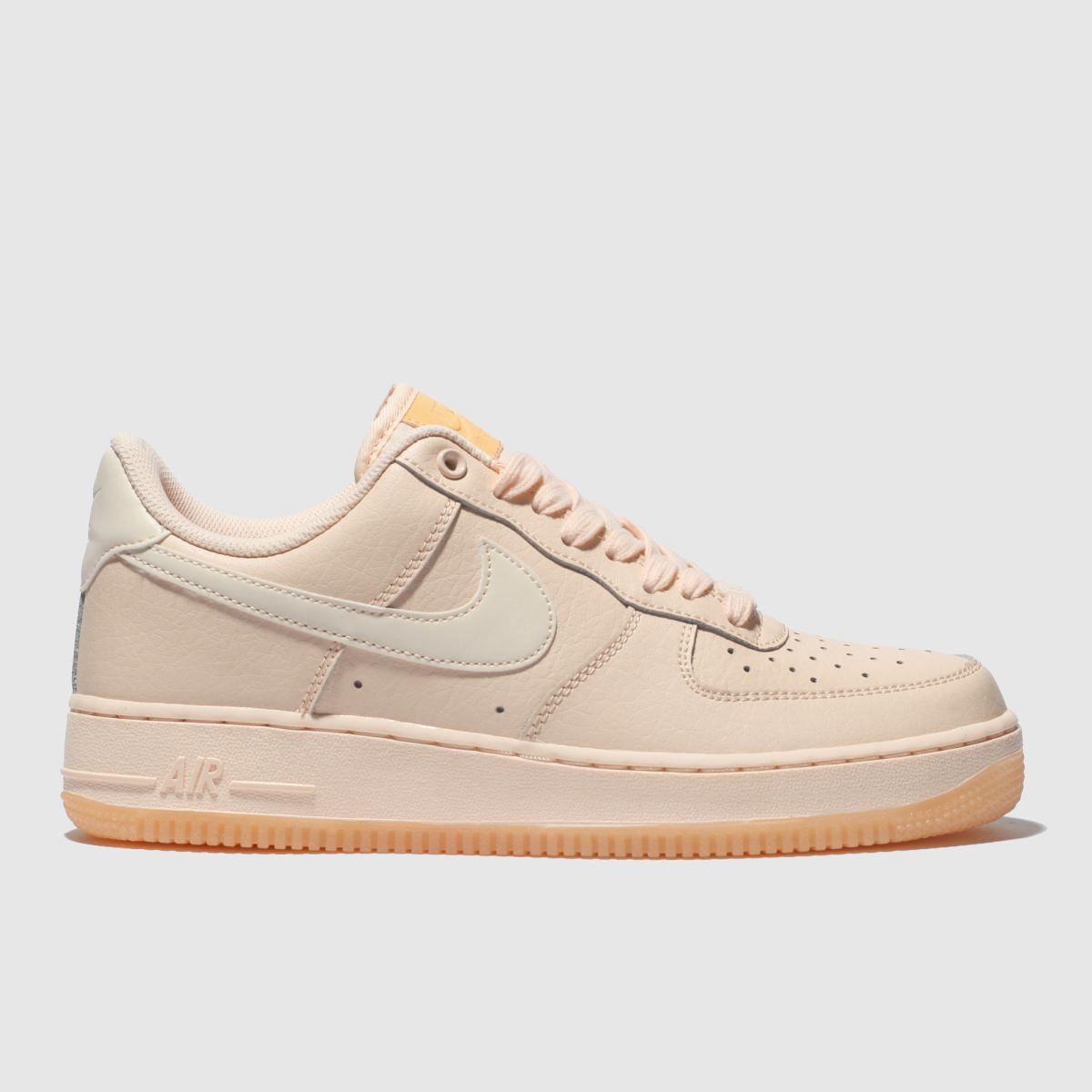 Nike Peach Air Force 1 07 Essential Trainers